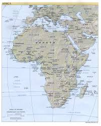 Africa Map With Capitals by