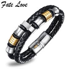mens bracelet charms images Fate love handmade leather bracelet men jewelry mens bracelets jpg