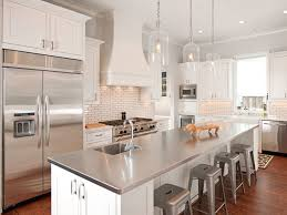 Modern White Bar Stool Kitchen Modern White Cornered Kitchen With Stainless Steel Island