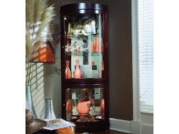 curio cabinet shocking pulaski corner curio cabinets pictures