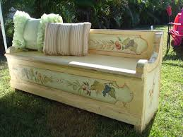 antique french country wooden storage bench bench love