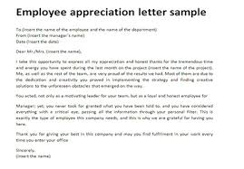 employee appreciation letter sle just letter templates