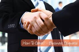 business greeting how to greet someone business etiquette learnex free