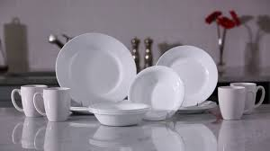 Corelle 76 Piece Dinnerware Set Corelle Dazzling White Unbreakable Dinnerware Youtube