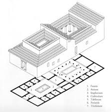 Roman Domus Floor Plan Plan And Reconstruction Drawing House Of Silver Wedding Pompeii