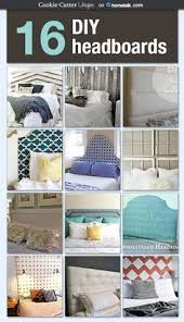 Diy Fabric Headboard by Treasured Rubbish Diy Upholstered Headboard With Stenciled