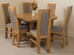 Dining Room Furniture Edmonton Edmonton Solid Oak Extending Oval Dining Table With 6 Stanford