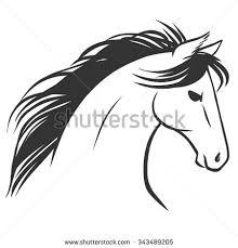 horses head tattoo sketch logo design stock vector 343489205