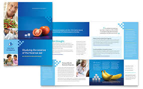 science brochure template dietitian brochure template design