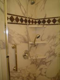 convert jetted tub into low maintenance shower cleveland hand held shower 3 corner shelves sentrel interior wall panes and grab bar in