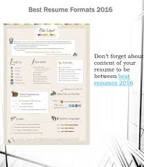 attractive resume format for experienced best resume formats if you want to get the job of your dream in 19 don t forget about content of your resume to be between best resumes 2016best resumes 2016 best resume formats 2016