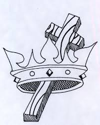 crown cross tattoo design photo 2 photo pictures and sketches
