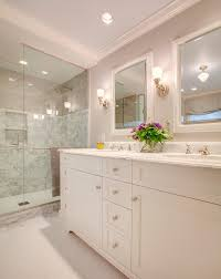 Acrylic Bathroom Mirror White Frame Mirrors Bathroom Traditional With Wall Sconce Plastic