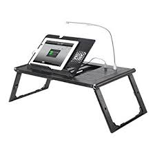Laptop Desk With Led Light Etable Adjustable Folding Desk Laptop Bed Tray