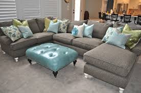 depiction of u shaped sectional with chaise design furniture