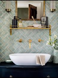 brass u0026 herringbone oozes elegance bathrooms u0026 powder rooms