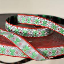 woven ribbon woven ribbon happy frogs