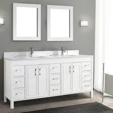 bathroom furniture dual integrated sinks navy dark gray master