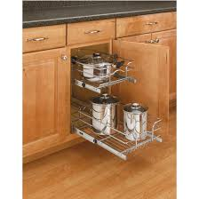 Pull Out Wire Baskets Kitchen Cupboards by Storage Baskets Chrome Double Pull Out Wire Baskets W Full