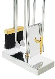 elegant fireplace tool set by danny alessandro at 1stdibs