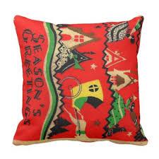 vintage deco season s greetings pillow