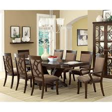 furniture of america woodburly 9 piece dining set with leaf by
