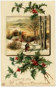 christmas postcards free vintage image merry christmas postcard design shop