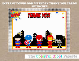 thank you card superheroes thank you cards marvel