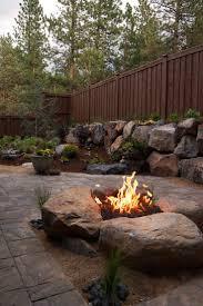 Gravel Fire Pit Area - home landscape gravel pea gravel river rock landscaping white