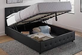 Baxton Studio Platform Bed Bedroom Baxton Studio Platform Bed Led Leather Bed Queen Size