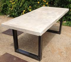 concrete patio dining table concrete table perfect for outdoor dining vintage industrial