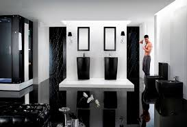 Black Modern Bathroom Altier Ii Modern Pedestal Sink