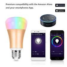 alexa light bulbs no hub smart wifi led light bulb works with alexa google assistant no hub