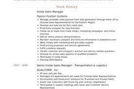 Inside Sales Resume Examples by Inside Sales Representative Resume Sample Resume Downloads For