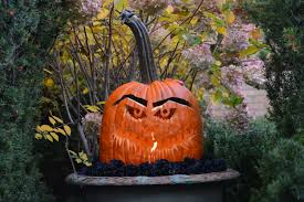 halloween pumpkin head jack lantern with burning candles over black background detroit garden works dirt simple part 5