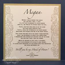 Bridesmaid Invitation Cards Will You Be My Bridesmaid Card Maid Of Honor Wedding Party Ask