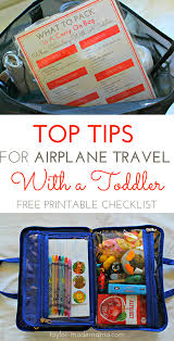 how to entertain a toddler on an airplane flight free checklist