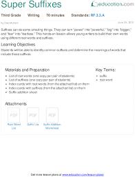 prefixes and suffixes activity education com