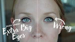 and if you want your eyes to look even wider apply a little liner a vine beauty trick everyone should try check out the difference