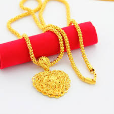 womens gold pendant necklace images Heart pendant gold necklace fashion jewelry new classic necklaces jpg