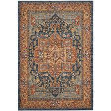 Orange And Blue Area Rugs Shop Safavieh Evoke Livia Blue Orange Indoor Oriental Area Rug