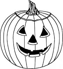 Drawing Of Halloween Pumpkin Coloring Pages For Kids Coloring Page