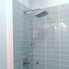 Glass Tile Installation Pale Blue Glass Subway Tile In Vapor Modwalls Lush 4x12 Tile