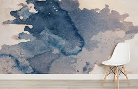 ink blot watercolour paint wallpaper mural murals wallpaper