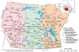 map of canada atlas prairies political map