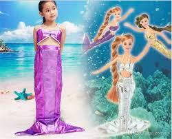 cheap girls holiday show mermaid princess dress kids