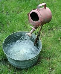 Diy Patio Fountain 18 Unimaginable Galvanized Tub Uses In The Garden Balcony Garden Web
