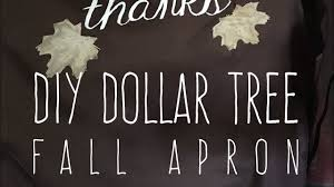 diy dollar tree fall apron customizable 2017