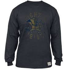distressed tri blend notre dame long sleeve shirt chicago