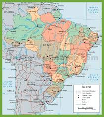 Political Maps Political Map Of Brazil